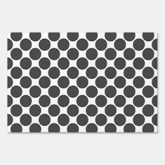 Puntos gris oscuro tejados carteles