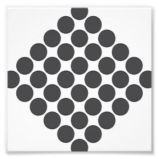 Puntos gris oscuro tejados cojinete