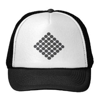 Puntos gris oscuro tejados gorras