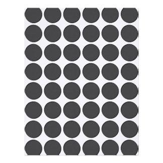 Puntos gris oscuro tejados membrete