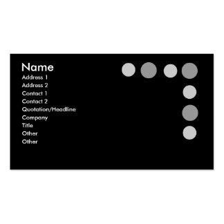 Puntos grises tarjetas de visita