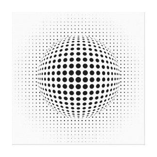 puntos - ilusión óptica lienzo envuelto para galerías