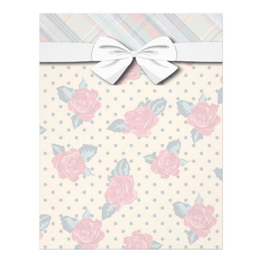 puntos lamentables de los rosas y tela escocesa de membrete personalizado