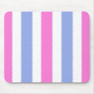 Puntos lindos y rayas rosados y púrpuras tapete de ratones