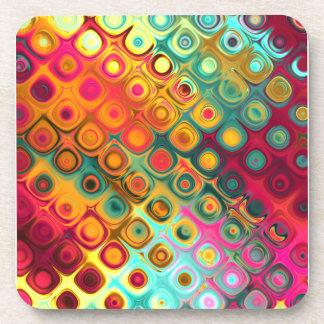 Puntos líquidos del arco iris posavasos de bebidas