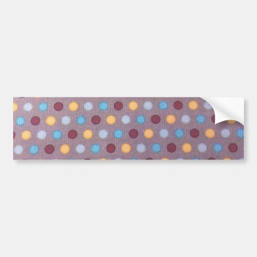 Puntos marrón azules anaranjados pegatina de parachoque