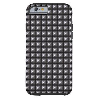 Puntos metálicos rebeldes industriales del estilo funda resistente iPhone 6