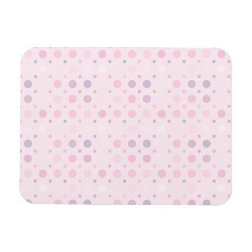 Puntos micro rosados imanes de vinilo