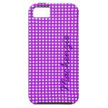 Puntos minúsculos en púrpura iPhone 5 Case-Mate cárcasas
