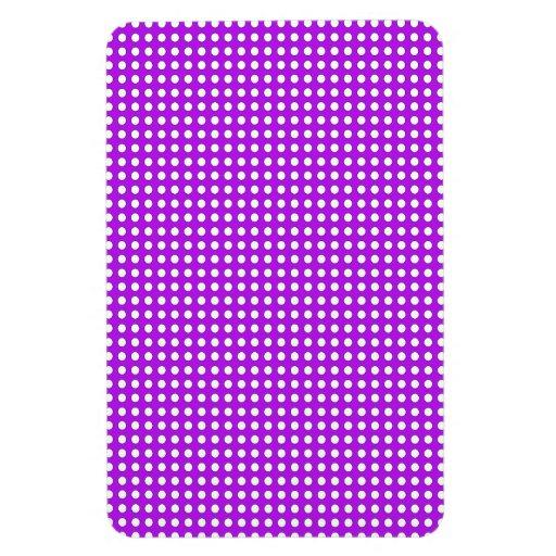 Puntos minúsculos en púrpura iman de vinilo