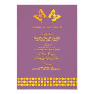 """Puntos modernos de la mariposa que casan el invitación 5"""" x 7"""""""