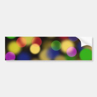 Puntos multicolores etiqueta de parachoque