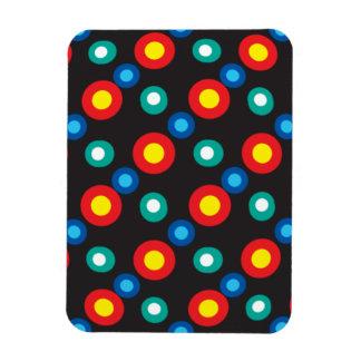 Puntos multicolores del disco imanes de vinilo