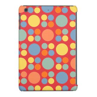 Puntos multicolores en rojo de la amapola fundas de iPad mini