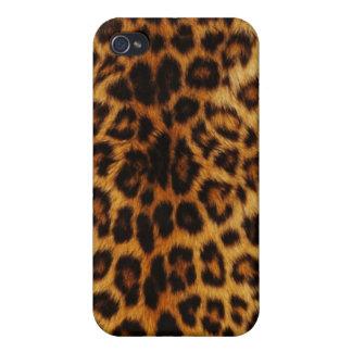 Puntos naturales del leopardo iPhone 4/4S carcasas