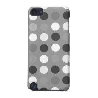 Puntos negros, blancos, y grises, caso de cáscara  funda para iPod touch 5G