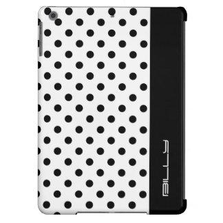 puntos negros en blanco con el lugar para el funda para iPad air