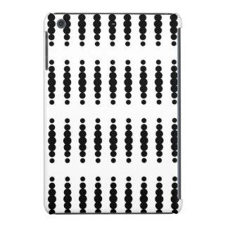 Puntos negros en el fondo blanco funda de iPad mini