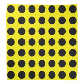 Puntos negros en pañuelo amarillo bandanas