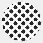 Puntos negros pegatina redonda