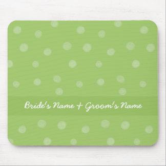 Puntos pintados Mousepad que se casa verde