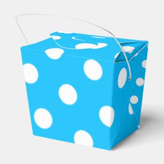 Puntos profundos del azul y del blanco de cielo cajas para regalos