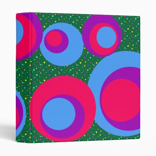 "puntos púrpuras azules rosados de los puntos carpeta 1"""