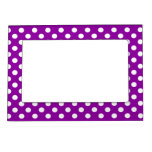 Puntos púrpuras/blanco marcos magneticos para fotos