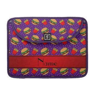 Puntos púrpuras conocidos personalizados de las fundas para macbooks