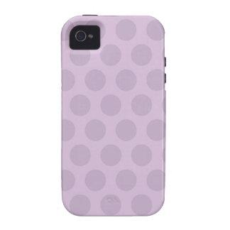 Puntos púrpuras iPhone 4/4S funda