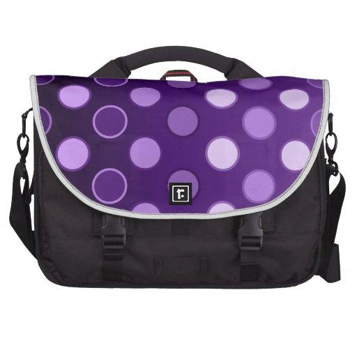 Puntos púrpuras grandes bolsas para portatil