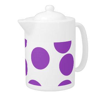 Puntos púrpuras grandes en blanco. Personalizado
