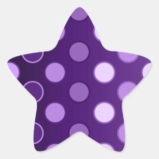 Puntos púrpuras grandes etiqueta
