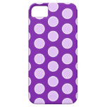 Puntos púrpuras grandes iPhone 5 Case-Mate protectores