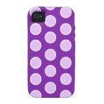 Puntos púrpuras grandes vibe iPhone 4 funda