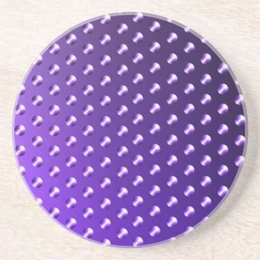 Puntos púrpuras posavasos diseño