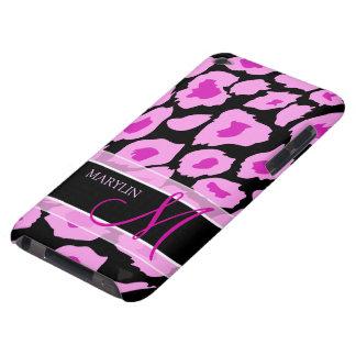 Puntos púrpuras y rosados elegantes del leopardo c barely there iPod fundas