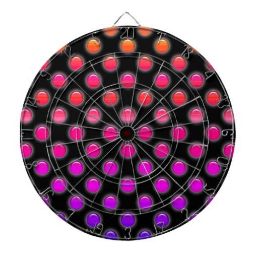 Puntos que brillan intensamente multicolores