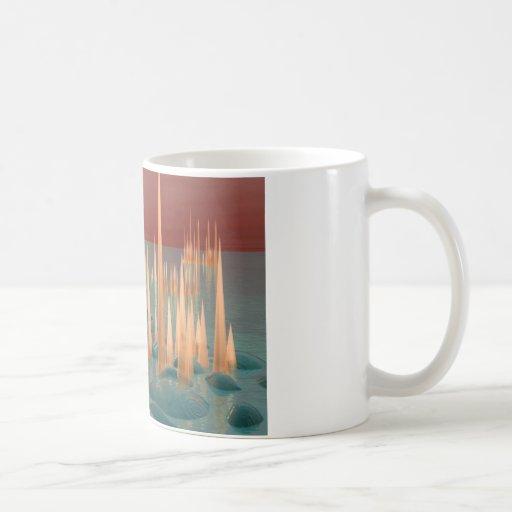 Puntos que brillan intensamente taza de café