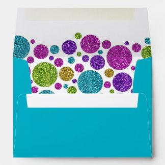 Puntos relucientes coloridos en cualquier palo sobres