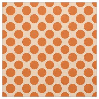Puntos retros grandes - mandarín y naranja pálido telas