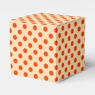 Puntos retros grandes - naranja y mandarín pálidos cajas para regalos