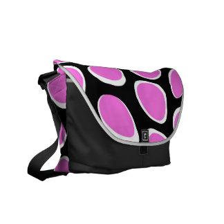 Puntos retros rosados híperes bolsa de mensajeria