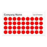 Puntos - rojo, blanco y negro plantillas de tarjeta de negocio