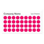Puntos - rojo de neón, blanco y negro plantillas de tarjeta de negocio