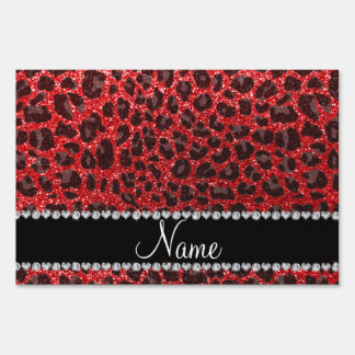 Puntos rojos conocidos de encargo del leopardo del letrero