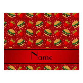 Puntos rojos conocidos personalizados de las tarjetas postales