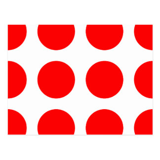 Puntos rojos grandes tarjeta postal