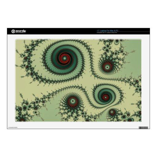 Puntos rojos y verdes del diseño extraño del fract portátil skin