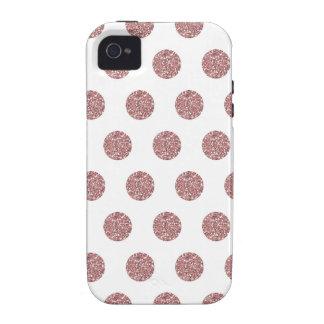 Puntos rosados atractivos de Poka iPhone 4 Carcasas